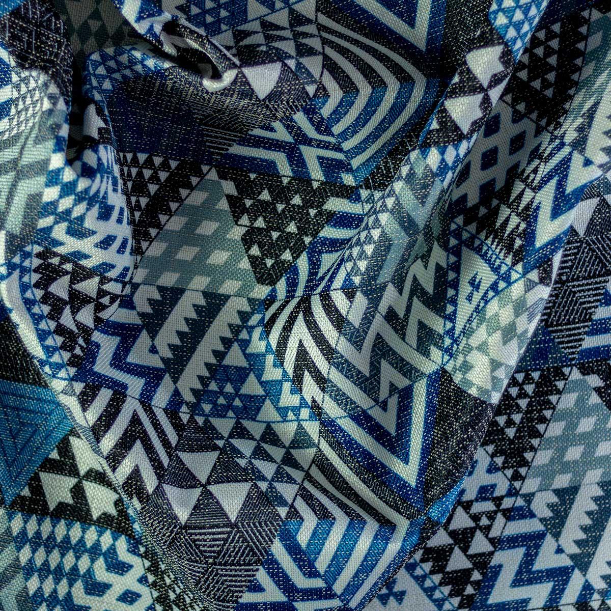 Tela Otoman Triángulos Azules