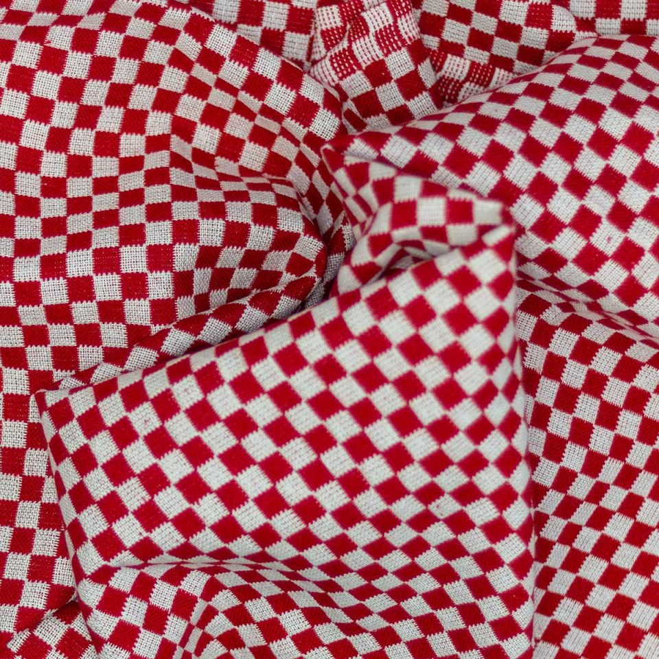 Tela Mantel Domino Rojo