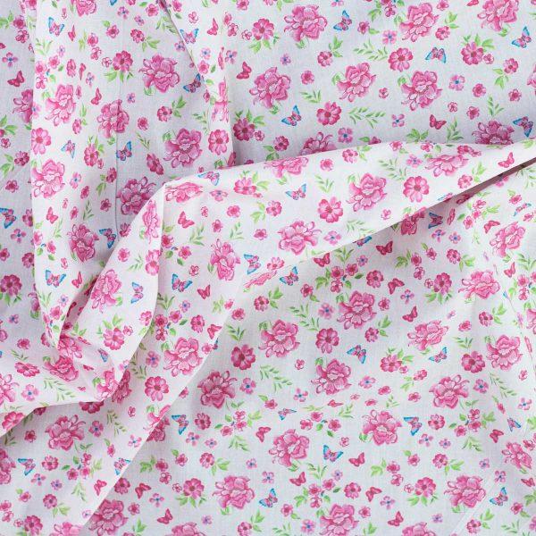 Kurosawa flores rosas y mariposas