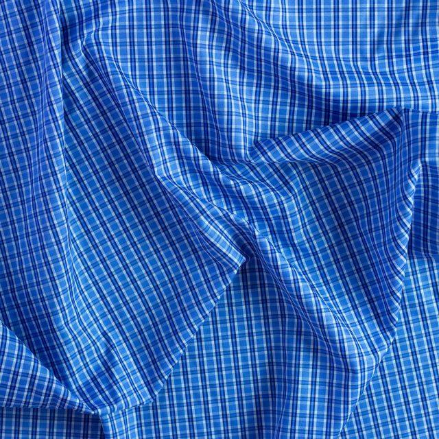 "tela camisera azul cuadro grande ""Camisero Newport"""