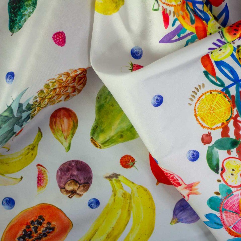 Digital Canasta Estampado Mantel Frutas
