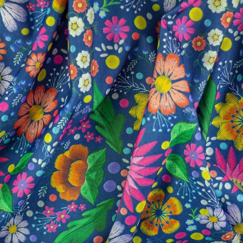 Tela Digital Estampado Patrón Flores