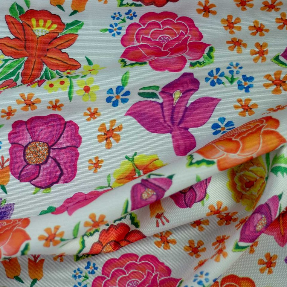 Tela Digital Estampado Flores Rosas