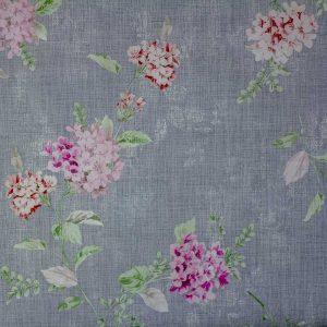Tela Plastimesa Mantel PVC Estampado Flores Gris