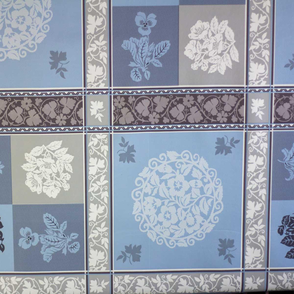 Tela Plastimesa Mantel PVC Estampado Mosaico Azul Gris