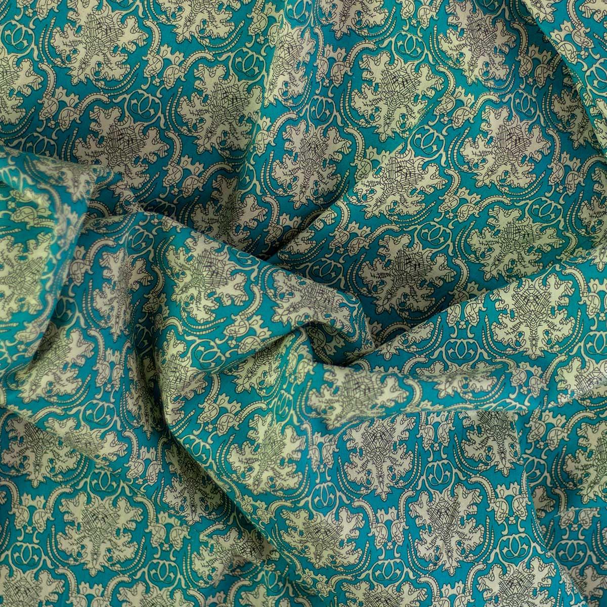 Tela Cotton Clásico Azul Claro