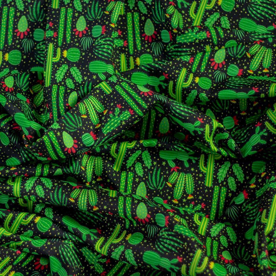 Tela Yucatan Cactus Cactus Y Estrellas