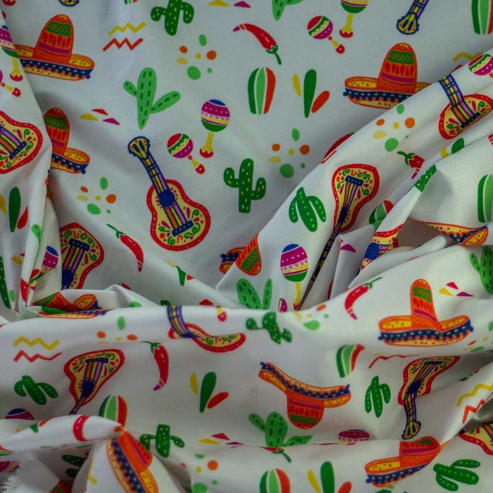 Tela Yucatan Guitarras y Sombreros